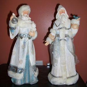 ATTIC CLEAN-OUT~ Decorative Christmas Santa Pair